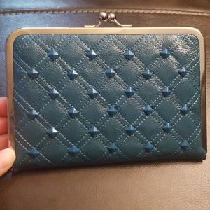 NWT Mossimo Turquoise Clutch/Wallet